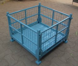 Da Grey / Black / Blue Stakall Wire Mesh Pallet, Capacity: 1000kgs, Dimension/Size: Customisable