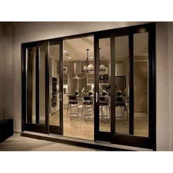 Transparent Sliding Glass Door, Interior, Thickness: 8-20 Mm