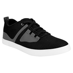Black Grey Casual Lace Up Shoes