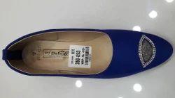 Blue Canvas Ladies Designer Shoe, Size: 4 - 8