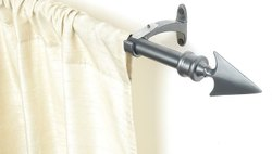 Charcoal Flat Arrow Curtain Rod