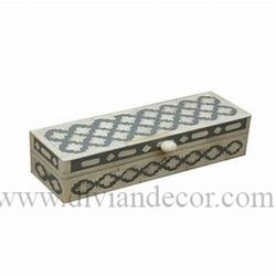 Designer Bone Inlay Box with Knob