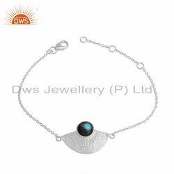 Abored Mountain Design Fine Silver Labradorite Gemstone Bracelet