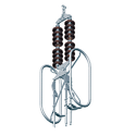 Quad Conductors Double Tension Hardware String