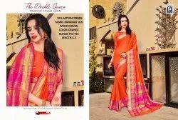 Rachna Banarasi Silk Satvika Catalog Saree Set For Woman