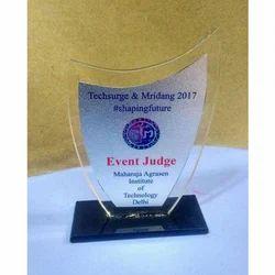 Event Judge Acrylic Trophy