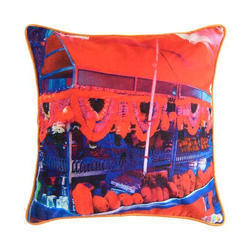 Juice Stall Canvas Cushion Cover