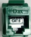 Plastics Dax Cat 6 I/o Module-green