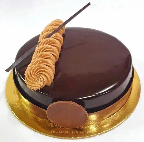 Round Chocolate Truffle Birthday Cake Packaging Type Box For Bakery