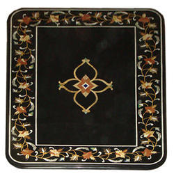 Indian Black Marble Pietra Dura Dining
