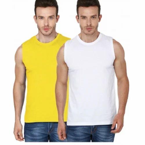 ef17c2ea Men's Sleeveless T-Shirt, पुरुषों की बिना आस्तीन ...