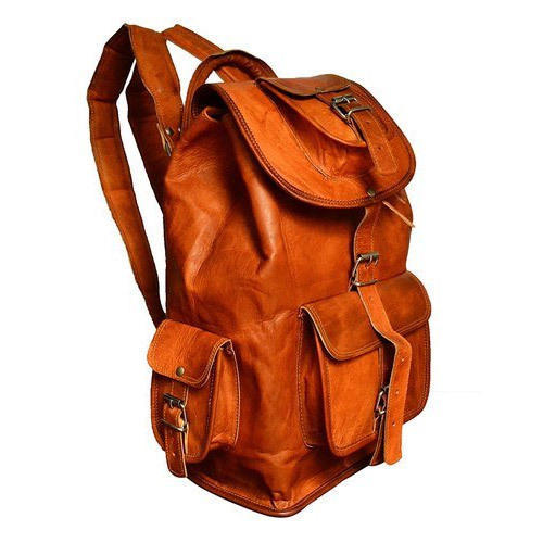 a819fe99b9b Brown Leather College Bag, Rs 1800 /piece, ZNT Bags | ID: 16017970091