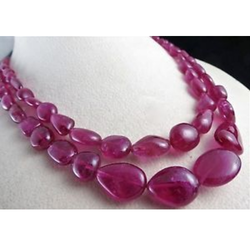 Ruby Gemstone Beads Necklace