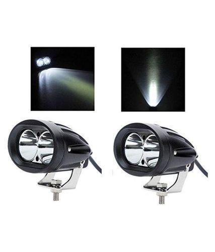 2x 120 Lm Motorcycle White Led Spotlight Headlight Driving Light Motorbike Spotlights Accessory Motor Fog Spot Head Light Reliable Performance Atv,rv,boat & Other Vehicle