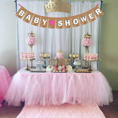 Wobbox Baby Shower Banner Pink, Party Decoration Set Of One,baby Shower  Banner For Baby Shower Decor
