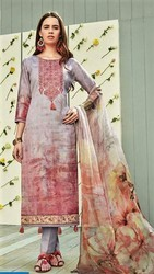 Cotton Digital Print Embroidery Suits