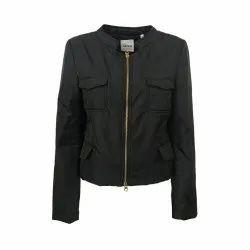 Full Sleeve Ladies Black Jacket