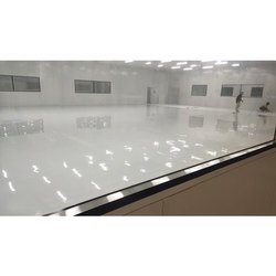White PU Flooring Service