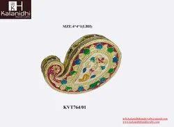 Kalanidhi Handicrafts Silver Gold Meena (Mango) Kankavati