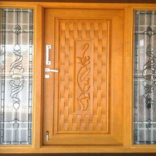 Brown Modular Entrance Door