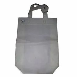 White Rectangular Loop Handle Non Woven Grocery Carry Bag