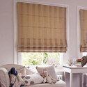 Brown, Beige Pvc Window Roman Blind