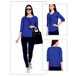 Blue Plain Top