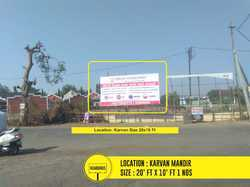 Yes Outdoors Hoarding Banner Advertising, For Advertisement, Gujarat