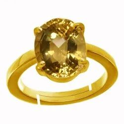 Citrine Panchdhatu Ring Men and Women Asthdhatu Gemstone