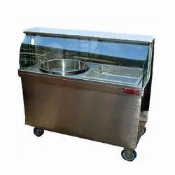 Rectangular Stainless Steel Jalebi Display Counter
