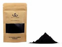 Black Coconut Shell-Activated Charcoal Powder, For Tooth whitening, Packaging Type: Craft Pouch