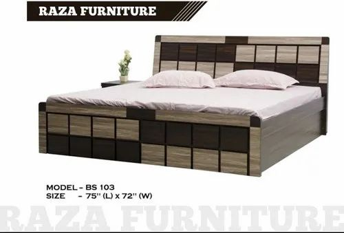 Raza King Size Wooden Double Bed Warranty 5 Year Rs 17500 Unit