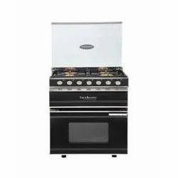 Stainless Steel Built-in Hindware ELDA Plus Black 60cm 50 Liters Cooking Range