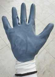 Gray Nitrile Coated Working Gloves