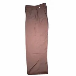 School Brown Cotton Trousers