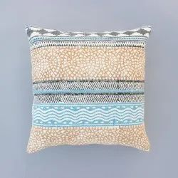 Indian Multi Color Hand Made Cotton Block Print Home Decor Decorative Car Sofa Boho Cushion Cover