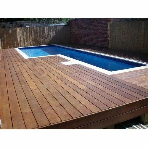Brown Swimming Pool Wood Decking Rs 495 Square Feet Garnier Ventures Id 19075146691