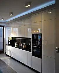 Lacquered Glass Modular Kitchen