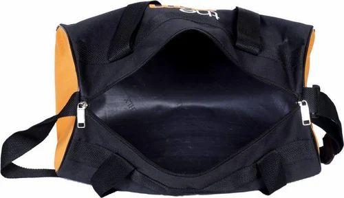 527cb81bbf5 Black and Orange Plan Topware Trendy Gym Bag ( Black, Orange, Kit Bag)