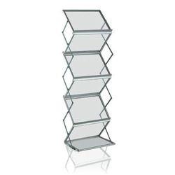 Zig Zag Acrylic Magazine Foldable Stand