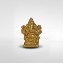 Brass Mantra Gold Plated Sitting Ganesha Statue