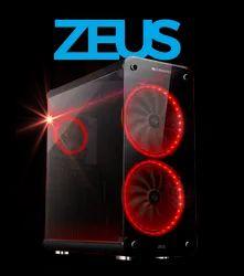 Black Base Body Zeus Premium Computer Case From Zebronics With Rgb Remote, Size: 230 X 473 X 526mm (w X D X H)
