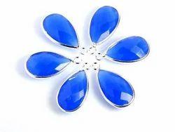 Blue Chalcedony Handmade Bezel 15x20mm Pear Shape One Loop Silver Polished Jewelry