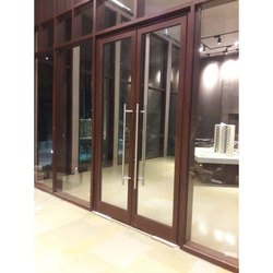 Plain Powder Coated Aluminium Glass Casement Door for Residential