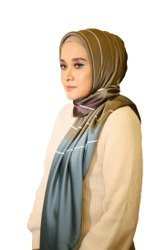 Satin Silk Multi Color Printed Square Scarf Hijab For Women