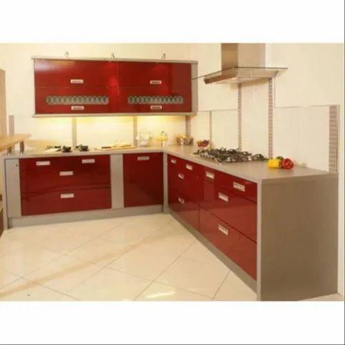Designer L Shape Modular Kitchen, L Type Kitchen Cabinet Design