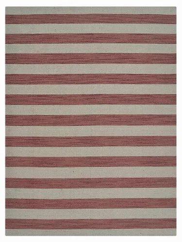 Hand Woven Flat Weave Wool Area Rug