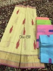 Casual Wear Pure Cotton Sarees., With Blouse, 6.3 M