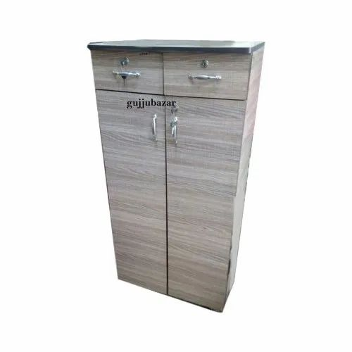 Plb Grey Small 2 Drawer Wardrobe, For Home