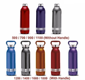 All color Cool Sprite 1600 (with handle) Plastic Water Bottle , Capacity: 2 Litre